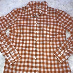 Women's J Crew Buffalo Check Boy Shirt